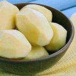 очищенный картофель
